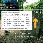 Allianzabende 2018, Termine Bischoffen