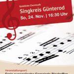 Konzert Singkreis Günterod am 24. Nov. 2019 in Bischoffen